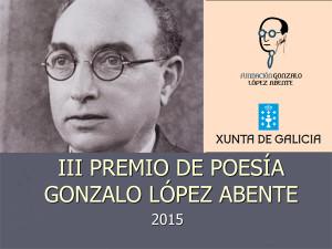 III PREMIO DE POESÍA GONZALO LÓPEZ ABENTE