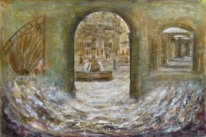 NoloSuárez-Chegando á praza da música de pedra e auga